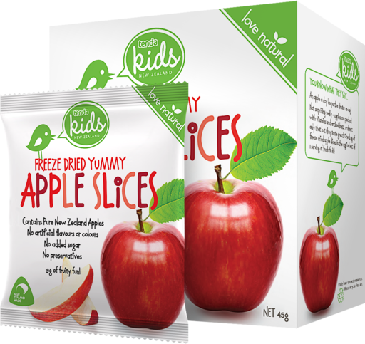 Tenda Freeze Dried Yummy Apple Slices Packaging Image