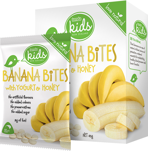 Tenda Banana Bites With Yogurt & Honey Packaging Image