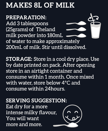 Theland Farm Fresh Whole Milk Powder_Preparation Instructions