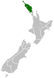 Nz Map Northland&Waikato