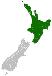 Nz Map North Island